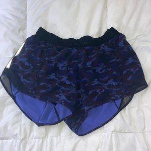Lulu lemon purple camo hotty hot shorts!